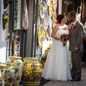 wedding couple in ravello